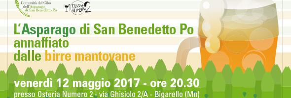 """""""L'ASPARAGO DI SAN BENEDETTO PO ANNAFFIATO DALLE BIRRE MANTOVANE"""""""